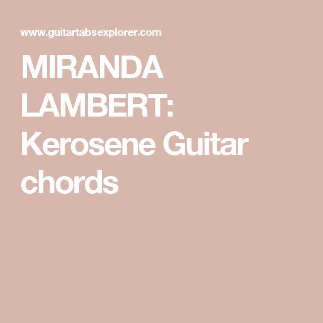 Kerosene Chords Gallery Chord Guitar Finger Position