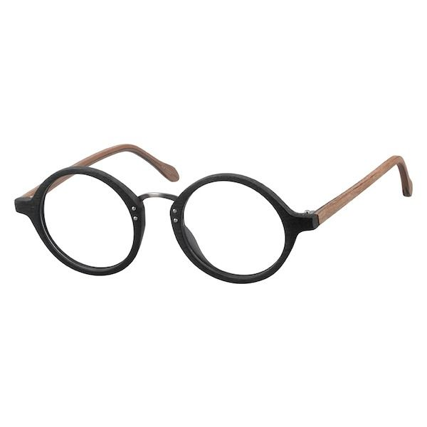 7d0939210e4 Zenni Vintage Round Prescription Eyeglasses Black Plastic 4410321 in ...
