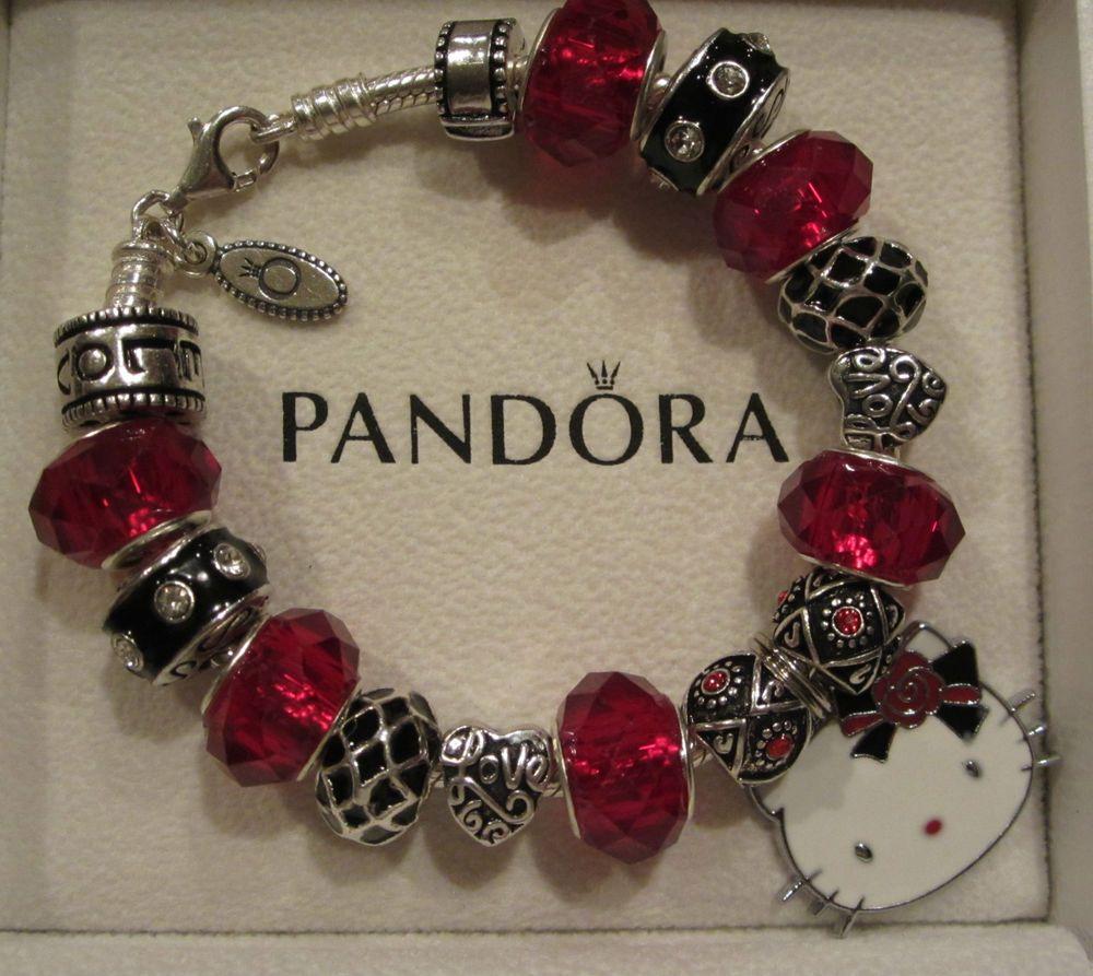 Best Charm Bracelet: Authentic Pandora Bracelet W 17 Murano Beads & Charms