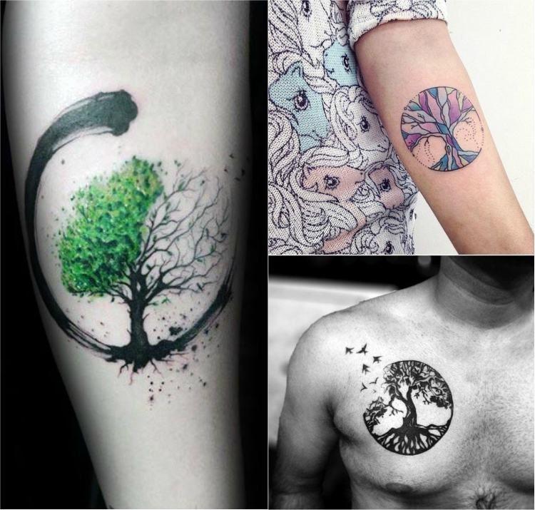 Tatouage Arbre De Vie Modeles Populaires Et Signification Arbre De Vie Tatouage Arbre De Vie Tatouage Tatouage Cercle
