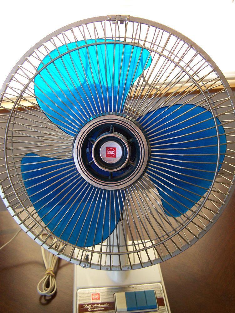 Fabulous Details About Vintage Oscillating Desk Fan Kdk 3 Speed 12 Interior Design Ideas Ghosoteloinfo