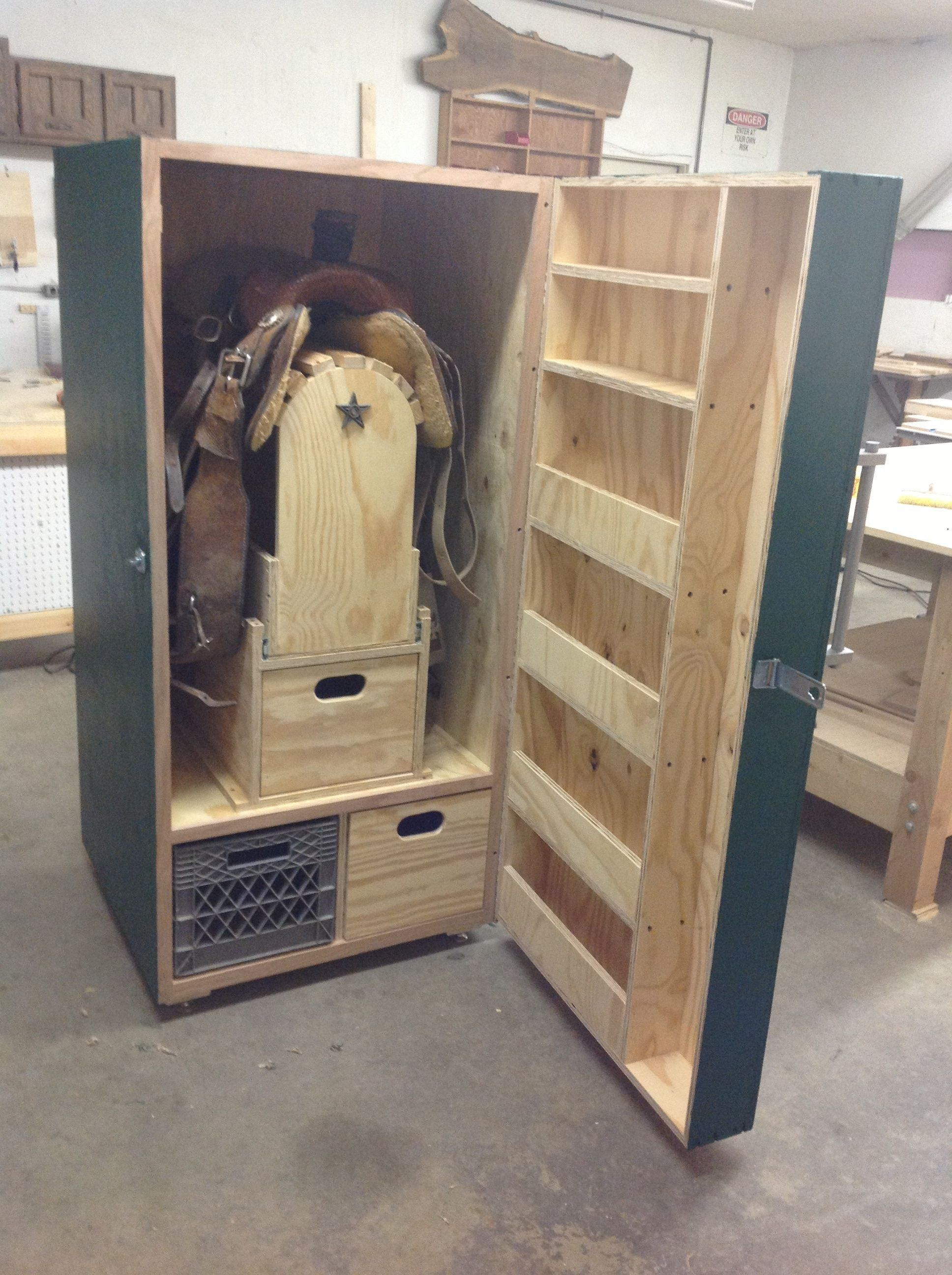 Image result for tack locker the ranch pinterest for Tack cabinet plans