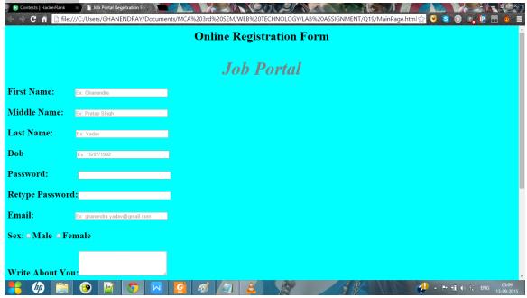 Create An Online Registration Form For Job Portal Online Registration Form Online Registration Job Portal