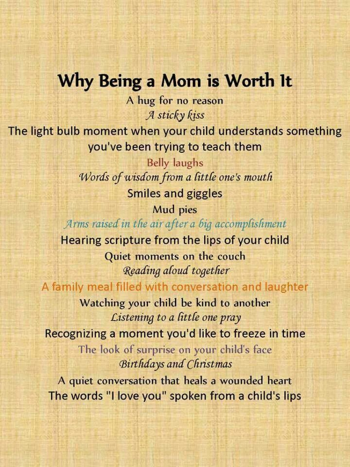 Poem being a mom is great | Food for Thought | Mommy ...