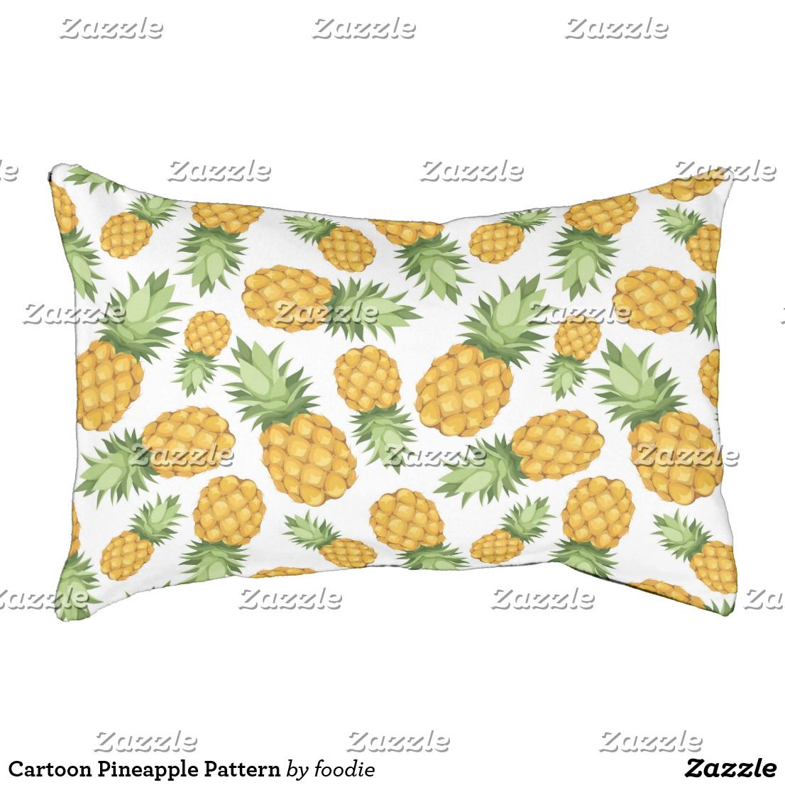 Cartoon Pineapple Pattern Pet Bed Pineapple