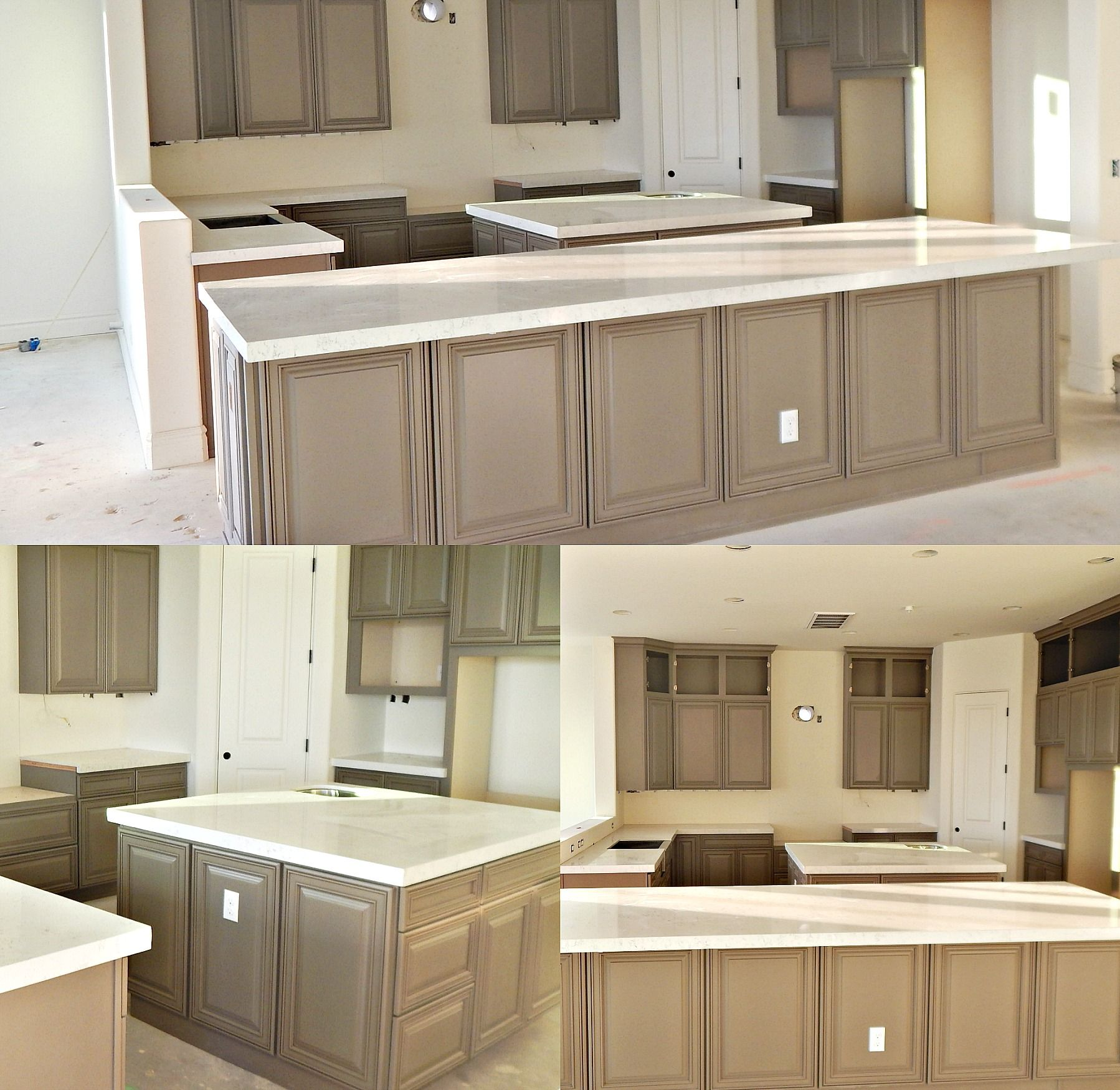 Lyskamm Quartz Countertop Remodel With Flat Polish Edge And Farm Style Sink Call For A Free Estimate 480 733 0003