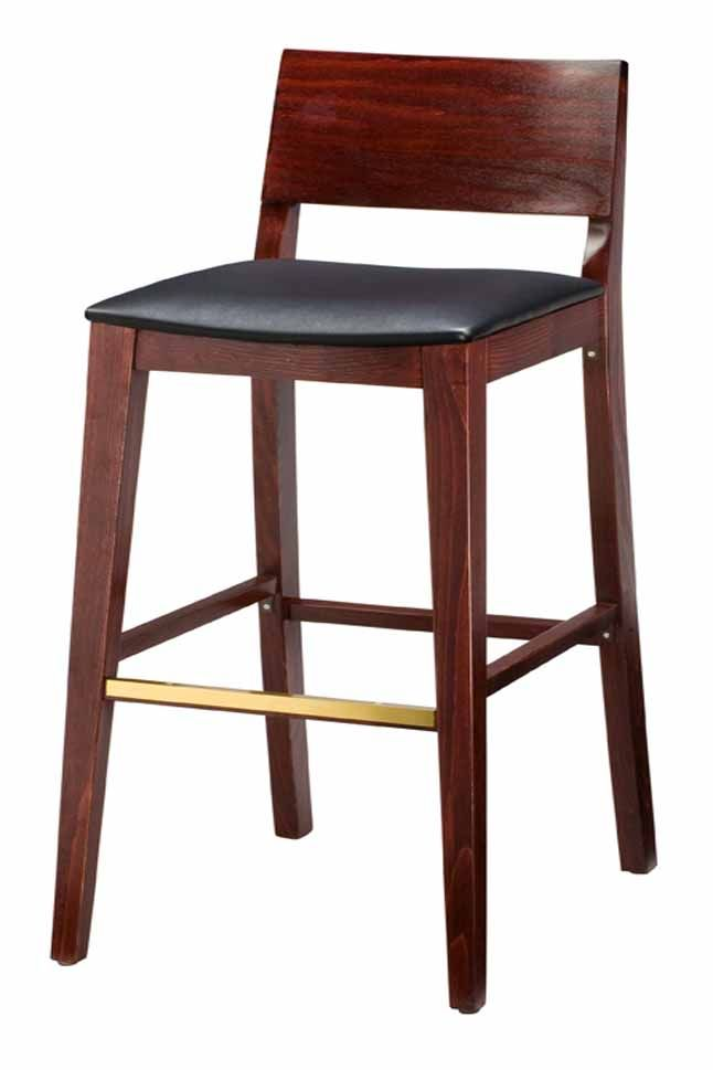 Regal Seating 2438u Beechwood Stool With Upholstered Seat And Wood