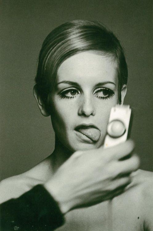 Twiggy at a photo shoot, London, 1966  by Burt Glinn.