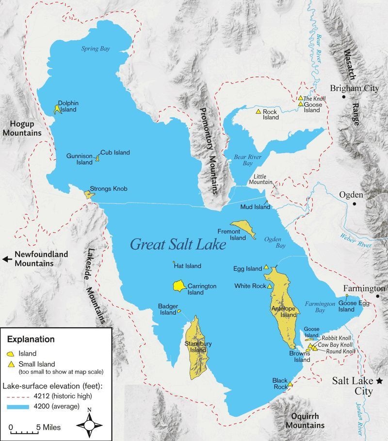 Stansbury Island Map Details about GREAT SALT LAKE ~ SOUTH SHORE NEAR SALTAIR ~ UTAH
