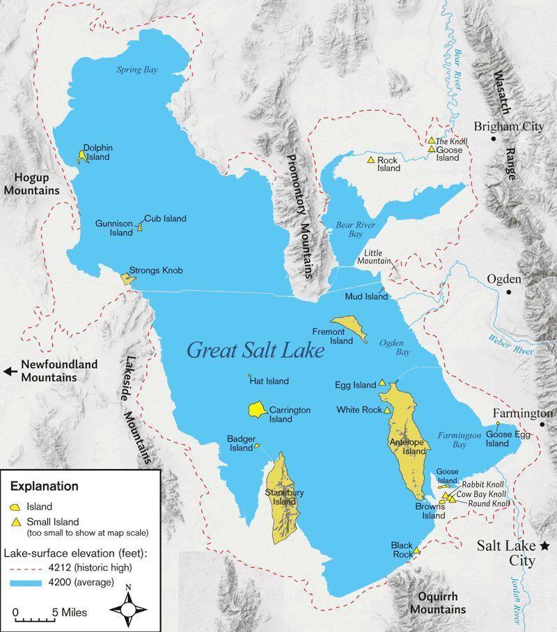 Geography Of Utah World Atlas Great Salt Lake And Desert Utah