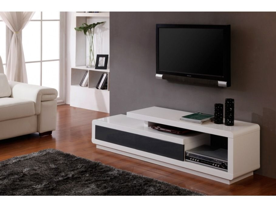 Mueble de tv moderno en madera lacada ref artaban 499 for Muebles para tv modernos