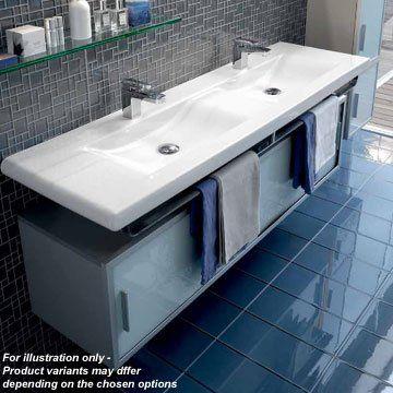Laufen Living Style Vanity Double Basin Unit With Sliding Doors Vanity Basin Double Vanity Unit