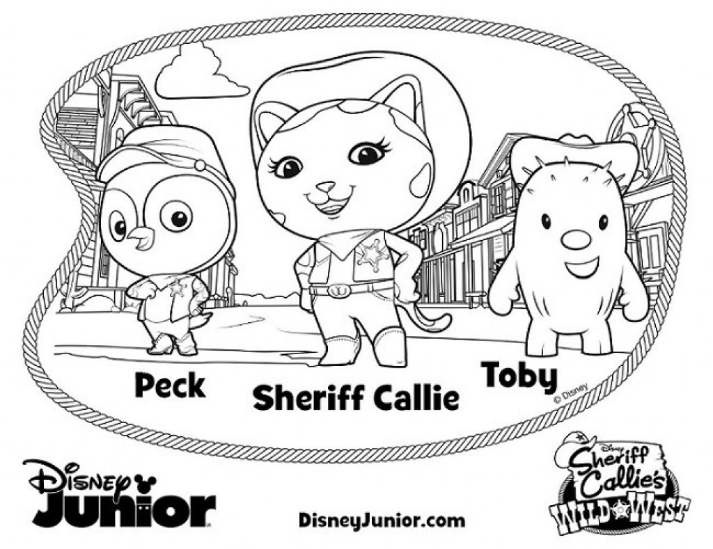 Disney Junior Coloring Pages With Disney Jr Color Pages