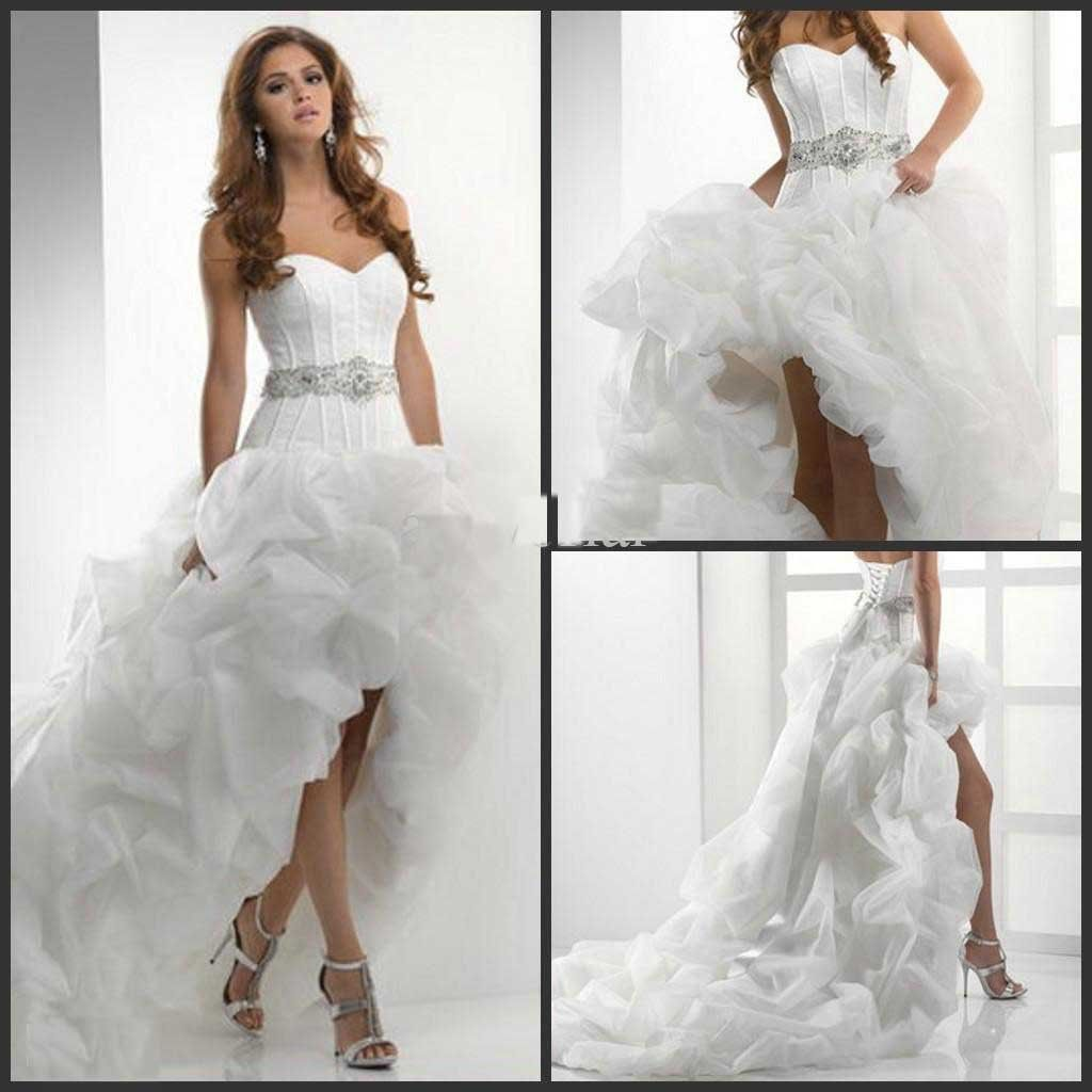 Usually not a huge fan of short wedding dresses but this highlow