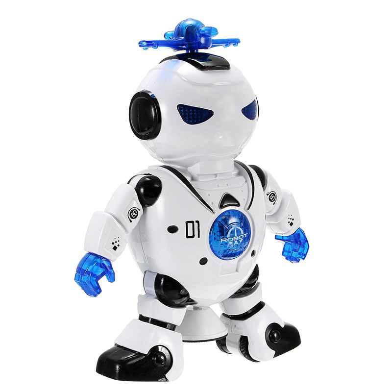Lezhou Intelligent Dancing Robot with LED Light Music for Kids Toy