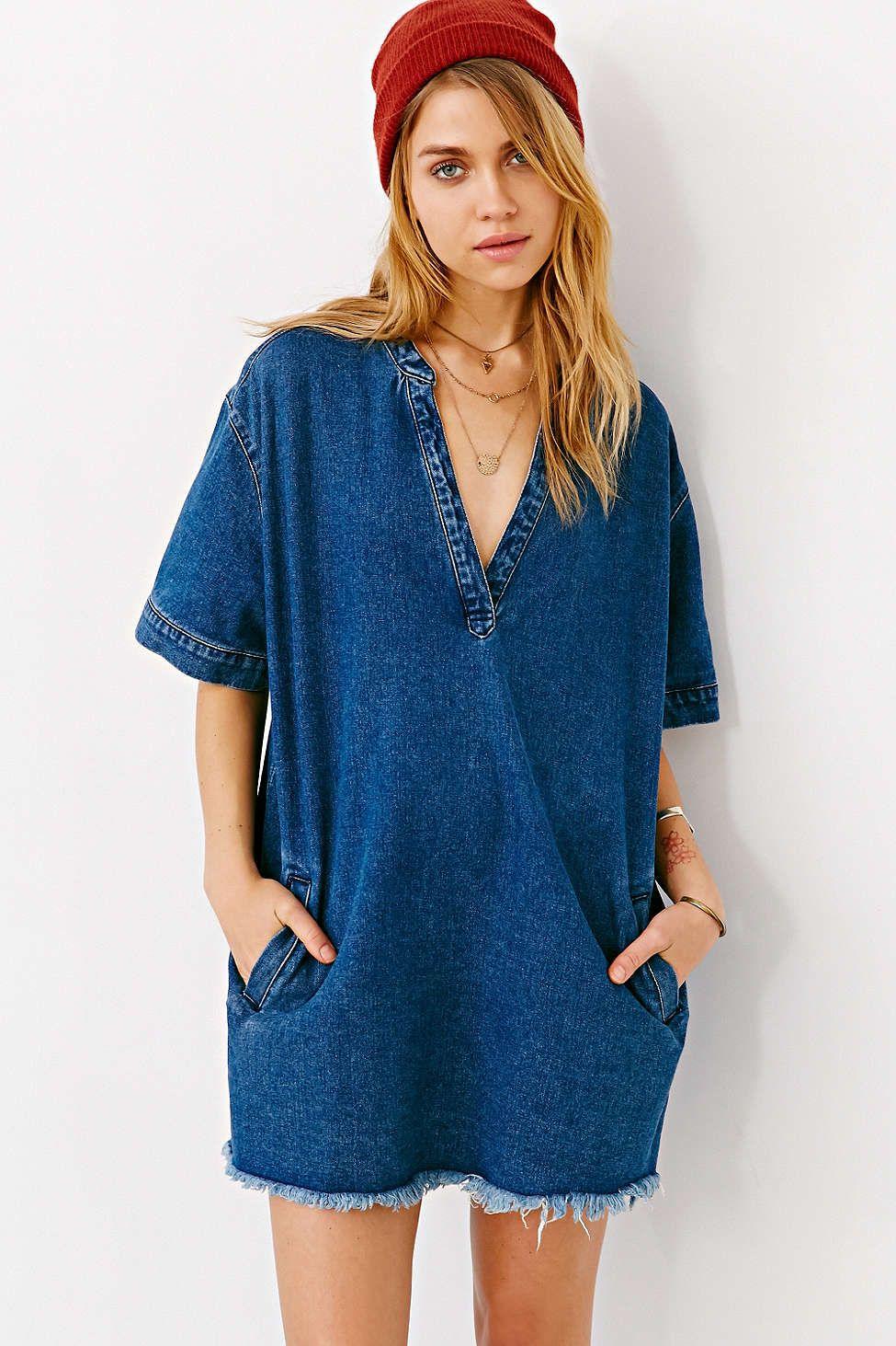 f93f7220972 Urban Outfitters Denim Shirt Dress - raveitsafe