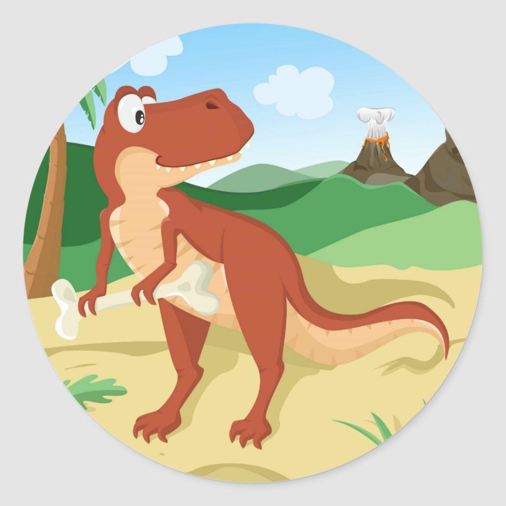 Tyrannosaurus Rex Classic Round Sticker #tyrannosaurusrex