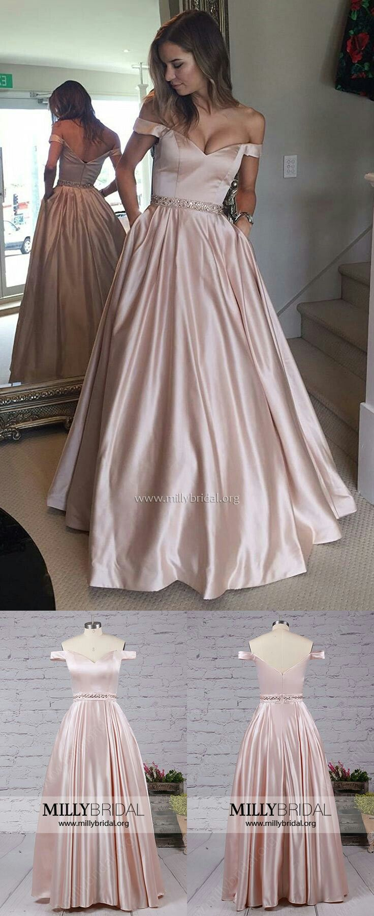 Long Prom DressesProm Ball GownsPink Prom Dresses For GirlsCheap