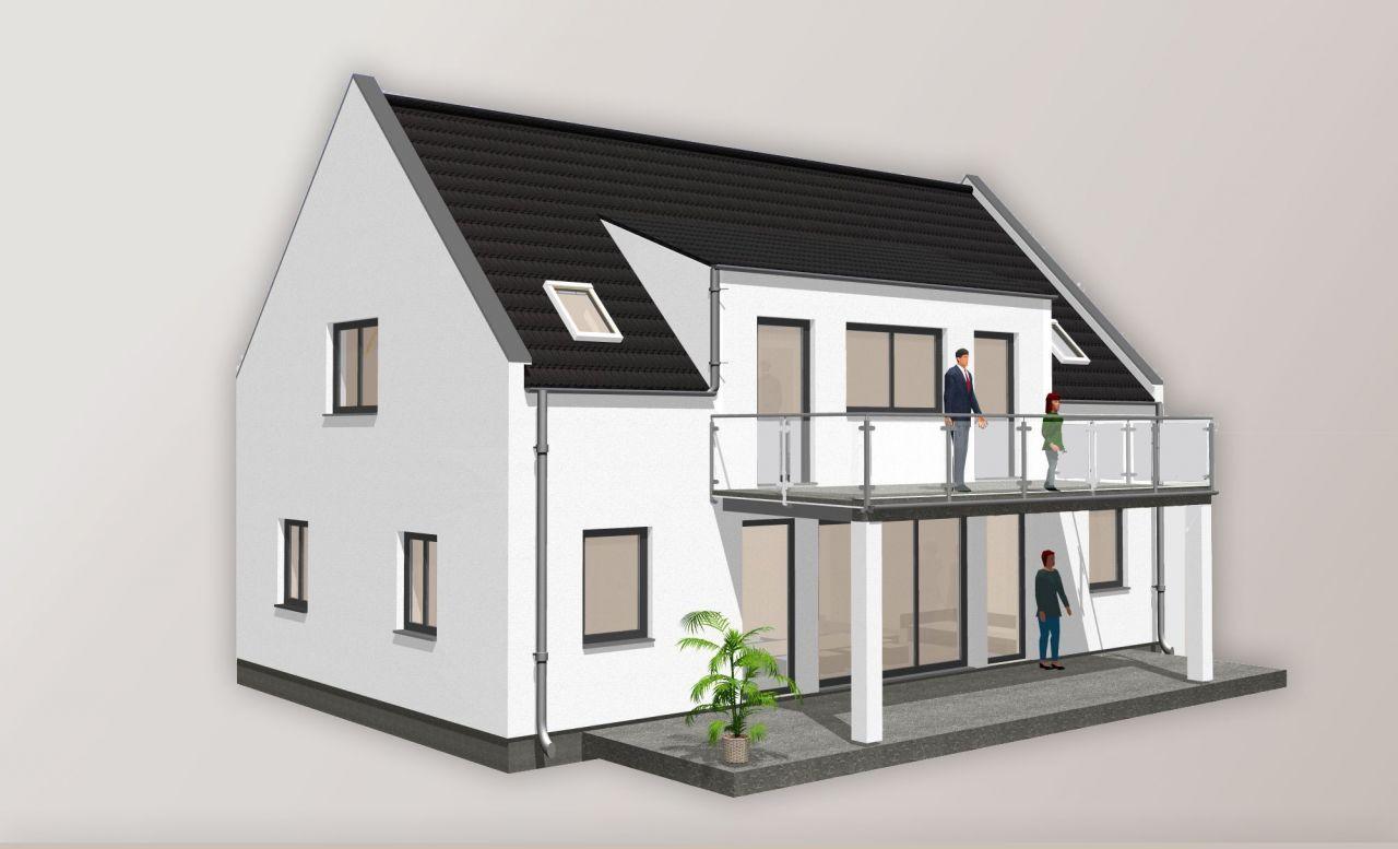 einfamilienhaus attika giebel balkon 162 einfamilienhaus grundrisse einfamilienhaus haus. Black Bedroom Furniture Sets. Home Design Ideas