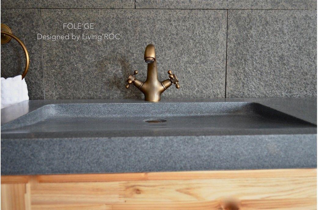 double vasque en pierre folege granit vritable haut de gamme 160x50 livingroc - Double Vasque En Pierre