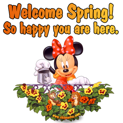 Yaahhh! 1st day of Spring | Minnie mouse cartoons, Disney ...
