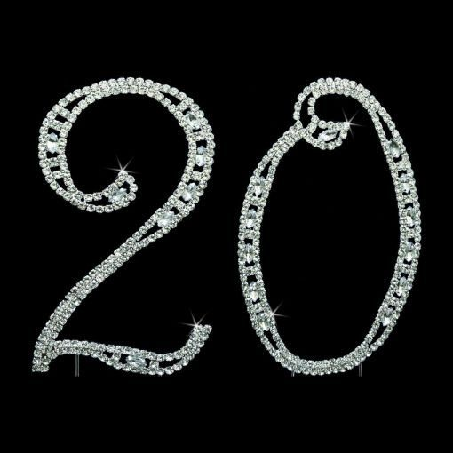 These rhinestone numbers with dazzling swarovski crystals will add unique look to your twentieth (20th) anniversary cake topper. The Swarovski crystals are both Round cut and Marquise cut and are individually set. #weddinganniversary #wedding #anniversary #poster #20thanniversarywedding These rhinestone numbers with dazzling swarovski crystals will add unique look to your twentieth (20th) anniversary cake topper. The Swarovski crystals are both Round cut and Marquise cut and are individually set #20thanniversarywedding