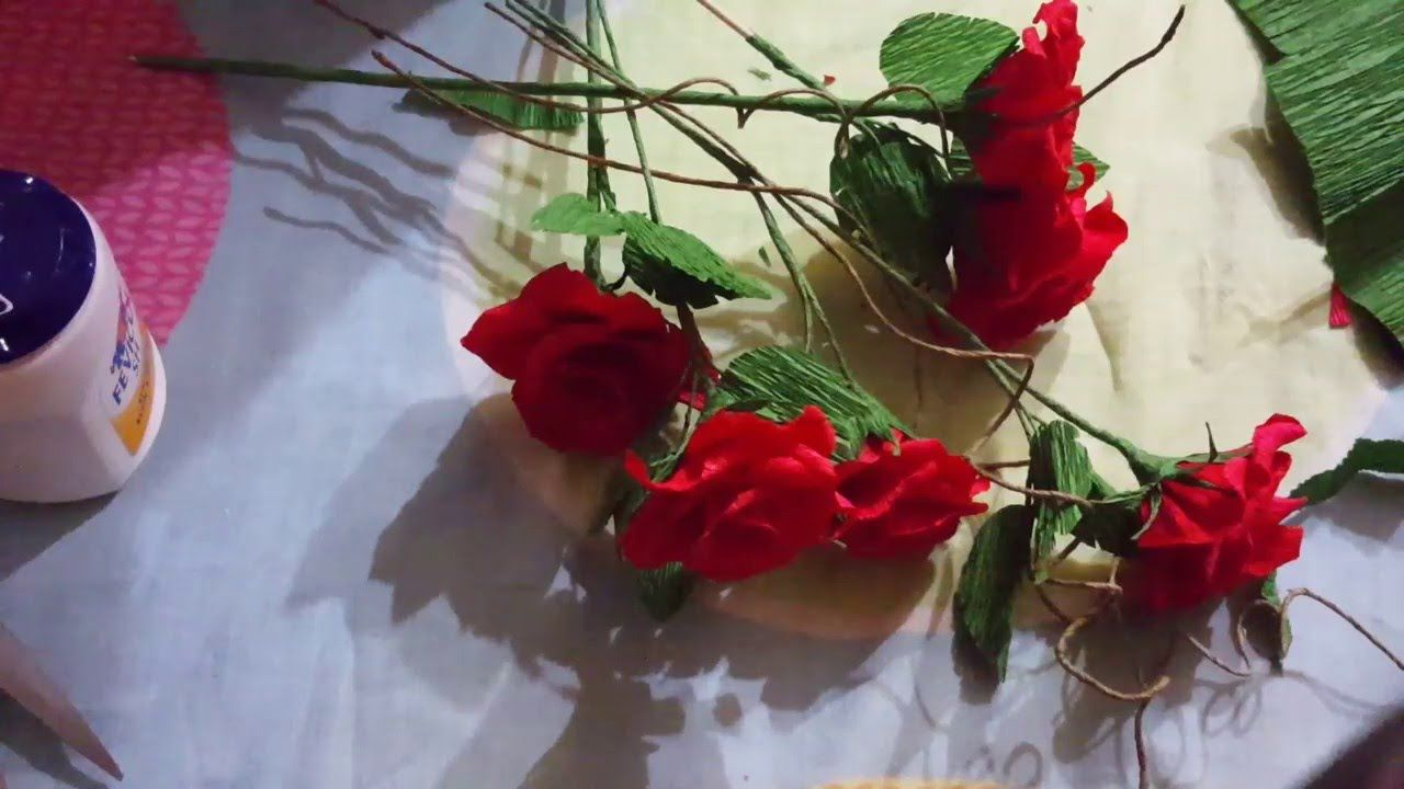 How To Make A Crepe Paper Rose Craft Tutorial Paper Flowers Crepe