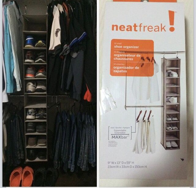 This one I made it for my hubby. Yes, since he become to have more shoes and there wasn't enough space I decided to buy this shoe organizer so this way he can reach them easily and it Aldo helps me to divide his weekend and his work clothes. He really like it.