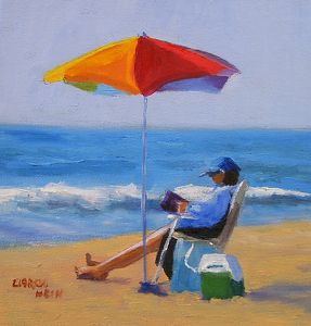 Set For the Day by Carol Hein Oil ~ 8 inches x 8 inches