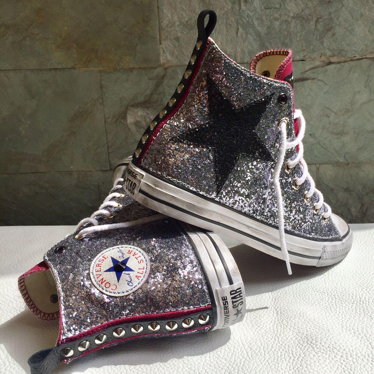 converse all star brillantini glitter