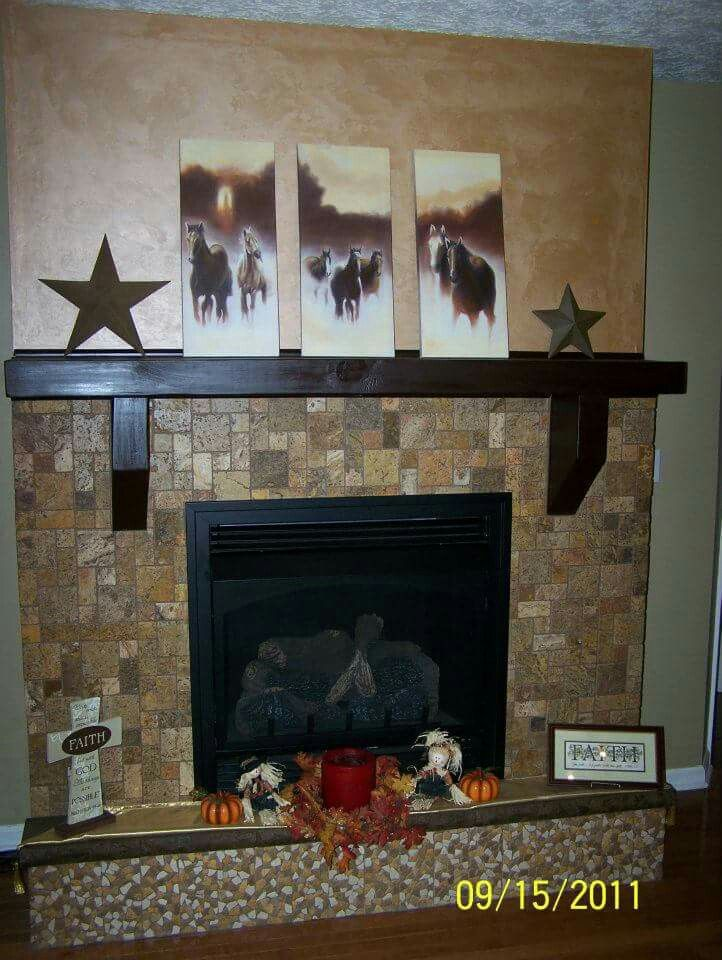 Built a vent free gas fireplace starting with just the