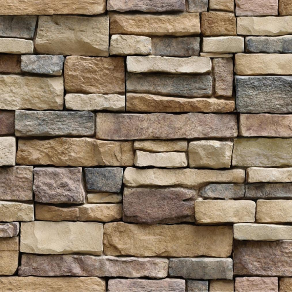 3d Wallpaper Brick Stone Rustic Effect Allwallpaper Dinding Bata Gambar Dinding Dinding