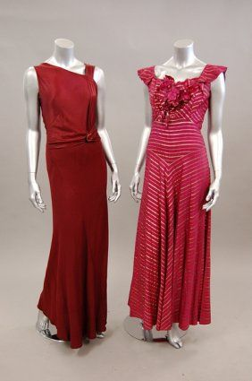 1930s-40s vintage evening dresses--drooling over the one on the left