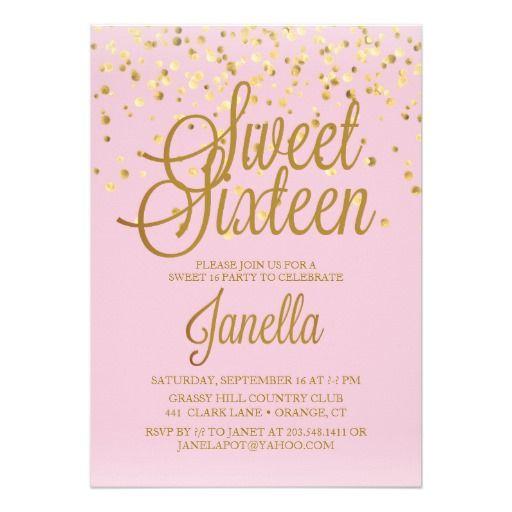 Sweet 16 Invitations sweet 16 invitations Pinterest Sweet 16