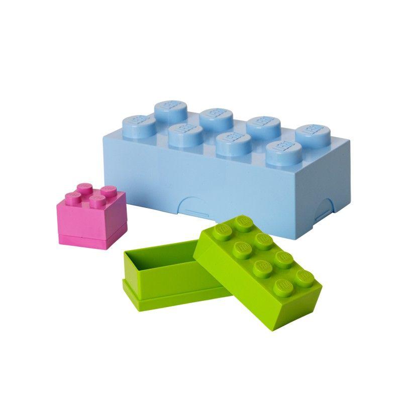 Brique de rangement LEGO BLEU CLAIR 8 tenons - Achat de rangement sur atylia.com | Lego storage ...