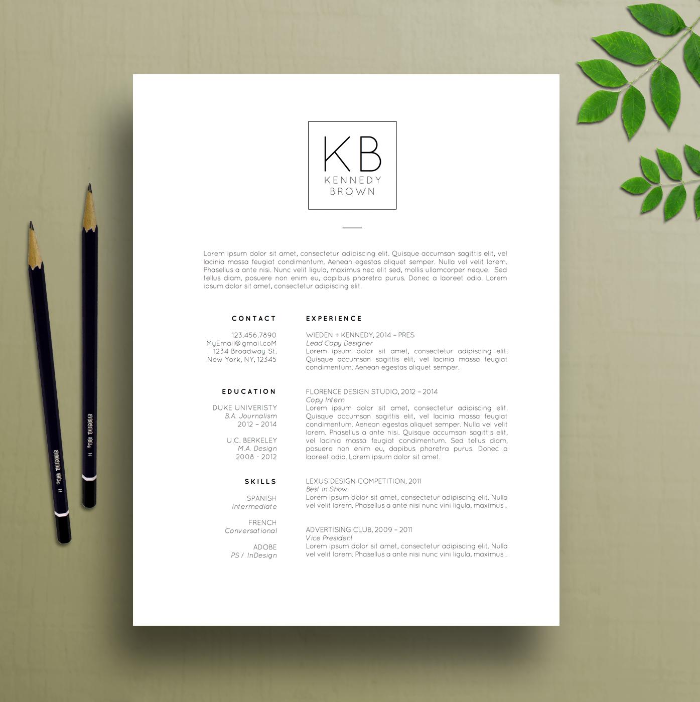 Pin de The Creative Resume / Resume Templates & CVs for Instant ...