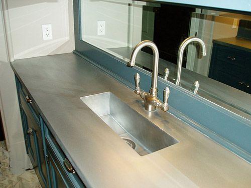View Photos Of Custom Zinc Kitchen Counter Island Tops Zinc Countertops Zinc Table Countertops