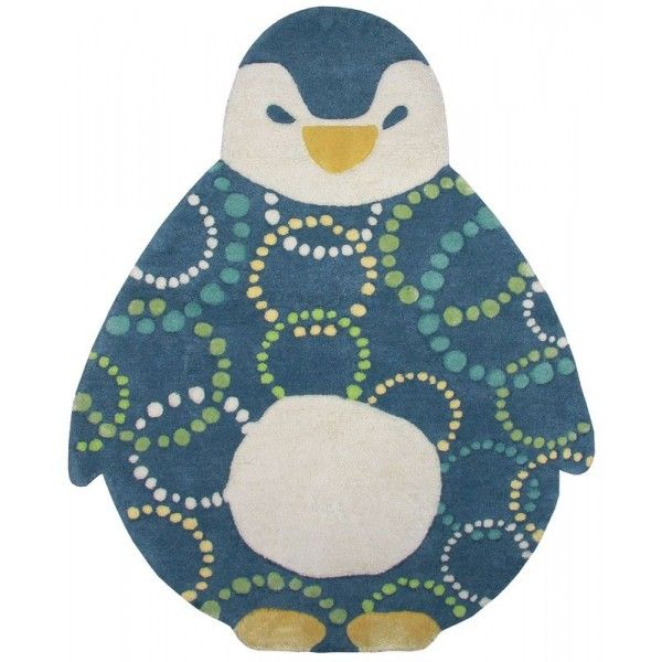 Un tapis enfant trop mignonUn petit pingouin tout doux pour