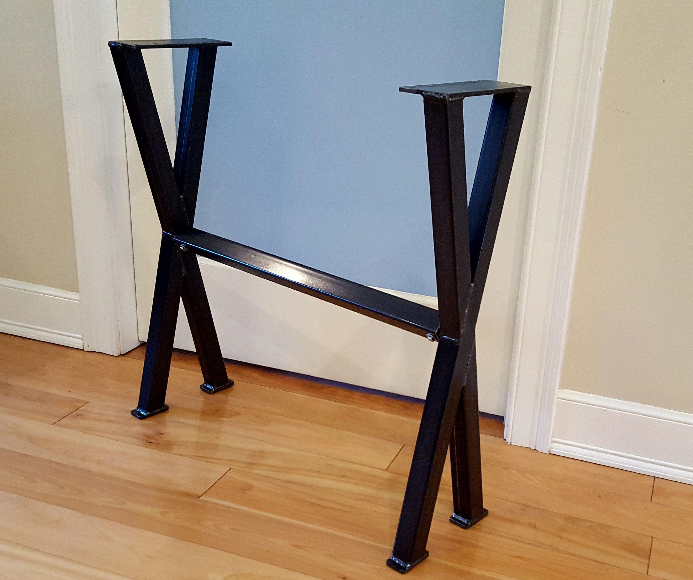 X 1 5 Metal Table Legs With Cross Bar Sofa Table Legs Etsy Metal Table Legs Metal Table Table Legs
