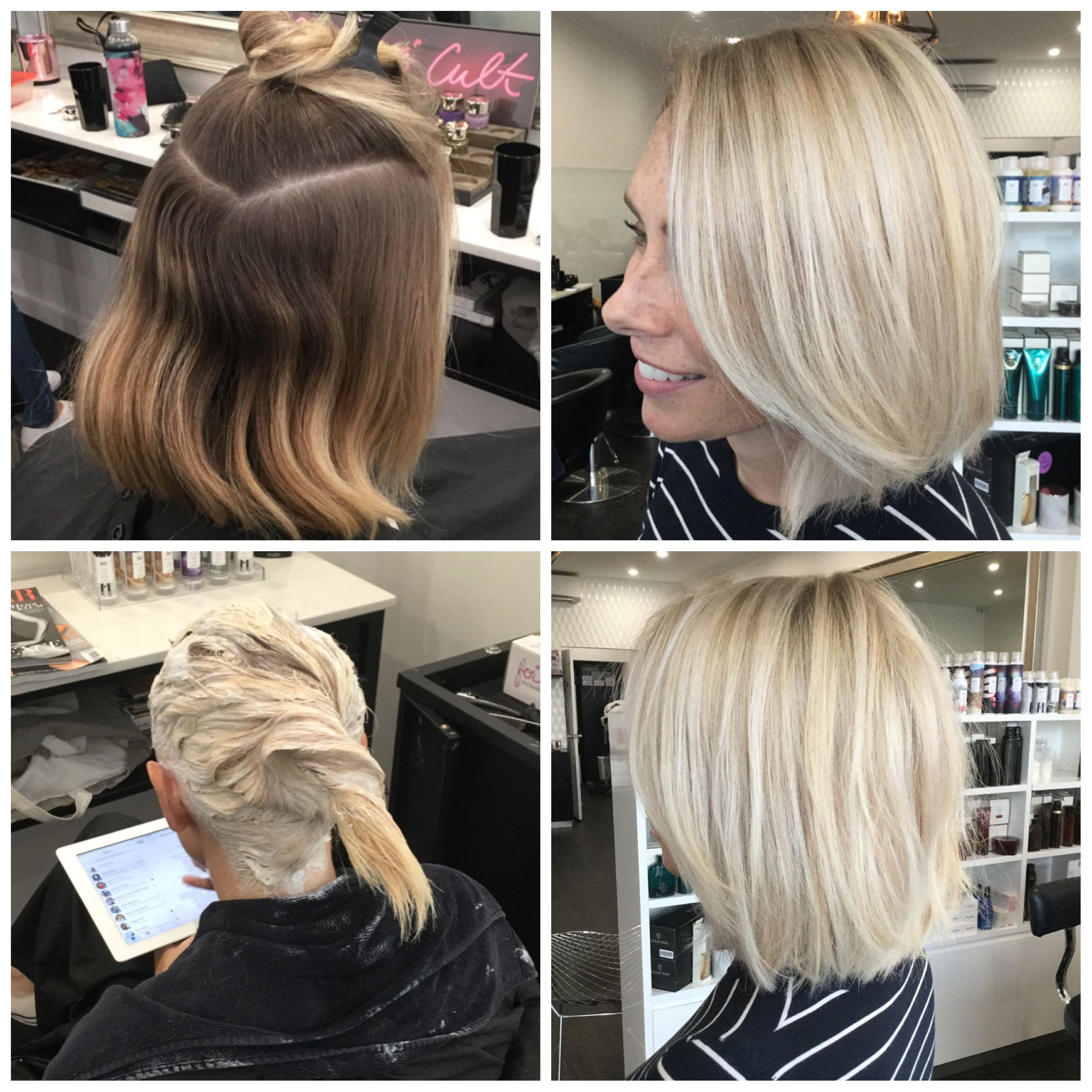 Before and after, scalp bleach, root shadow | Before and ...