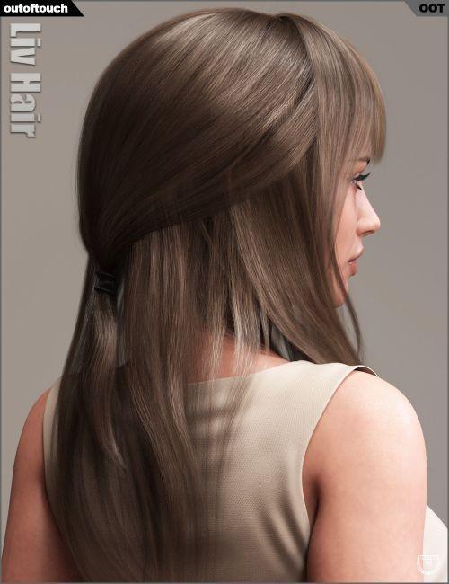 Liv Hair for Genesis 16 Female(s) and Genesis 16 Female(s) | 16D Hair ...
