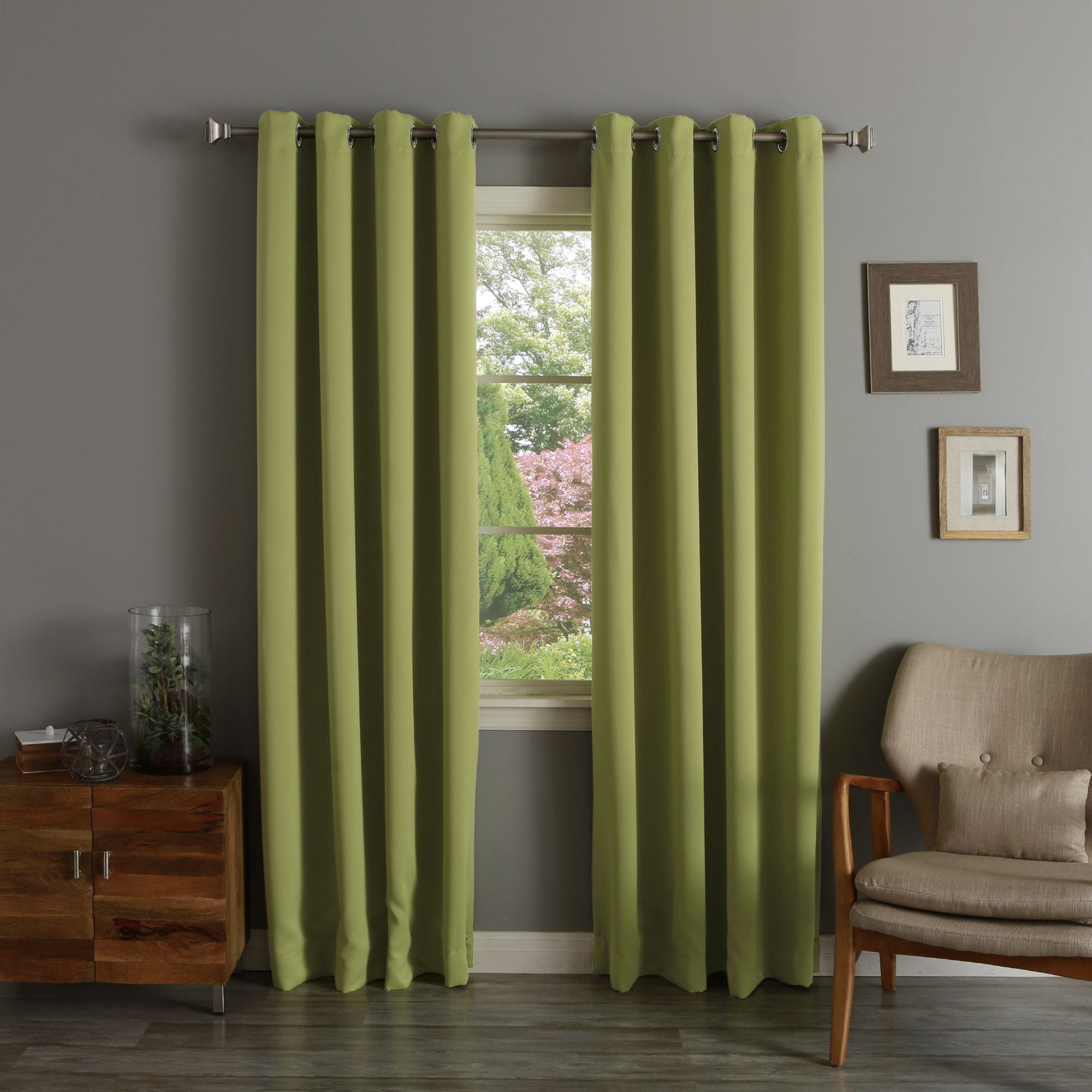 Aurora Home Thermal Insulated 108 Inch Blackout Curtain