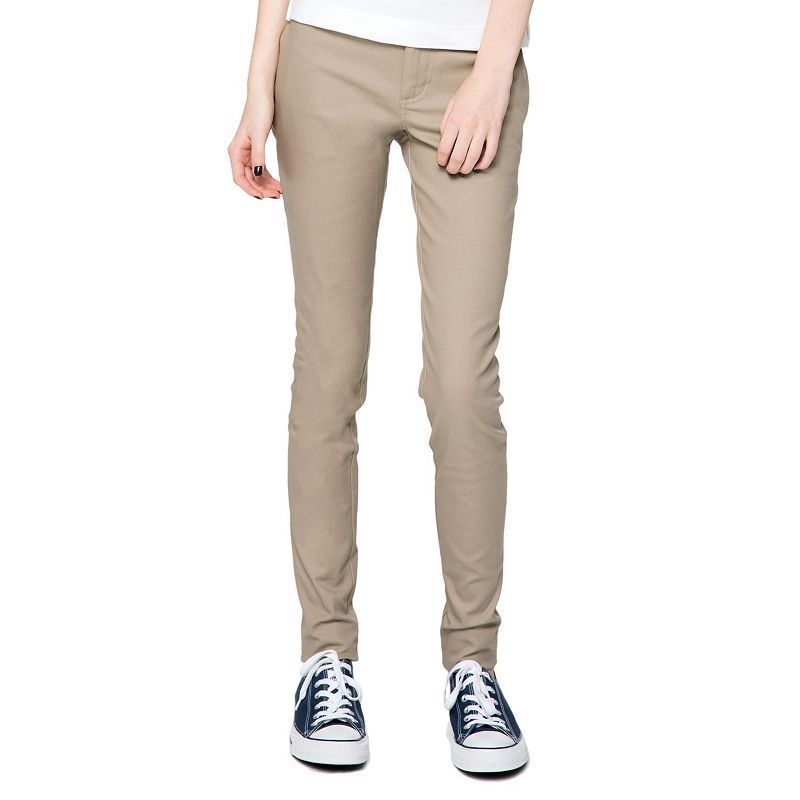 Juniors' Lee Uniforms Original Skinny Stretch Pants, Kids Unisex, Size: 17, Brown
