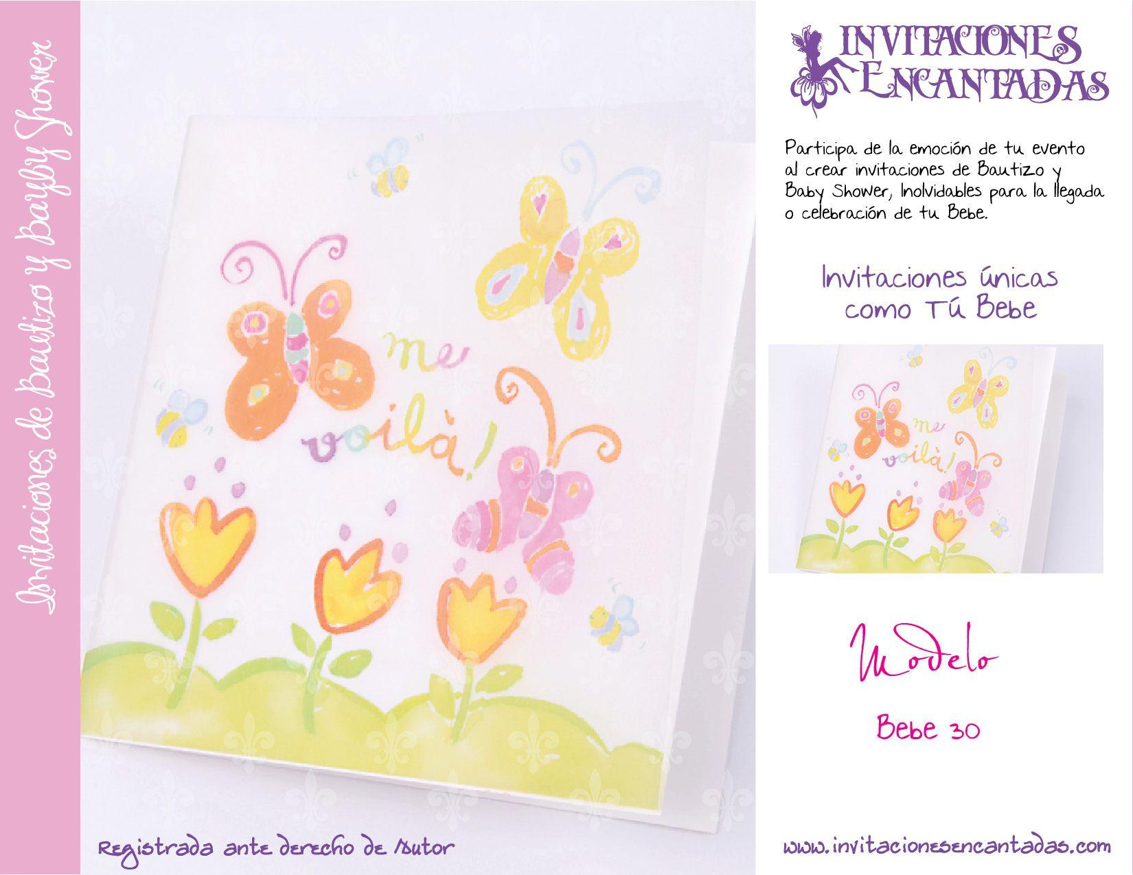 Invitacion Con Dise 241 O De Mariposas Y Flores Invitaciones