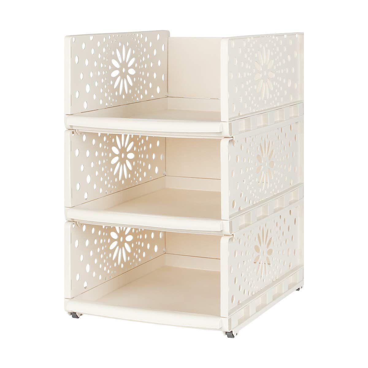 Wardrobe Storage Organiser Box 1 Pcs Plastic Stackable Detachable Storage Box Shelves Closet Organiser For In 2020 Wardrobe Storage Shelves Closet Shelf Organization