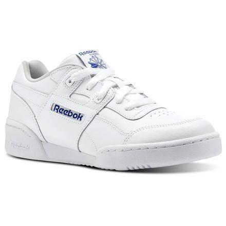 b4f7fd2cfdb82d Reebok Unisex Workout Plus - Grade School in WHITE   BRIGHT LAVA Size 5 -  Fitness Shoes