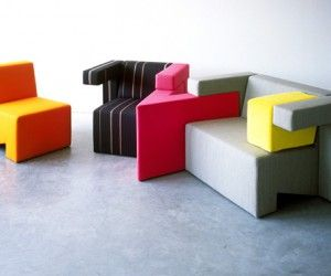 Original puzzle-like furniture by Studio Lawrence