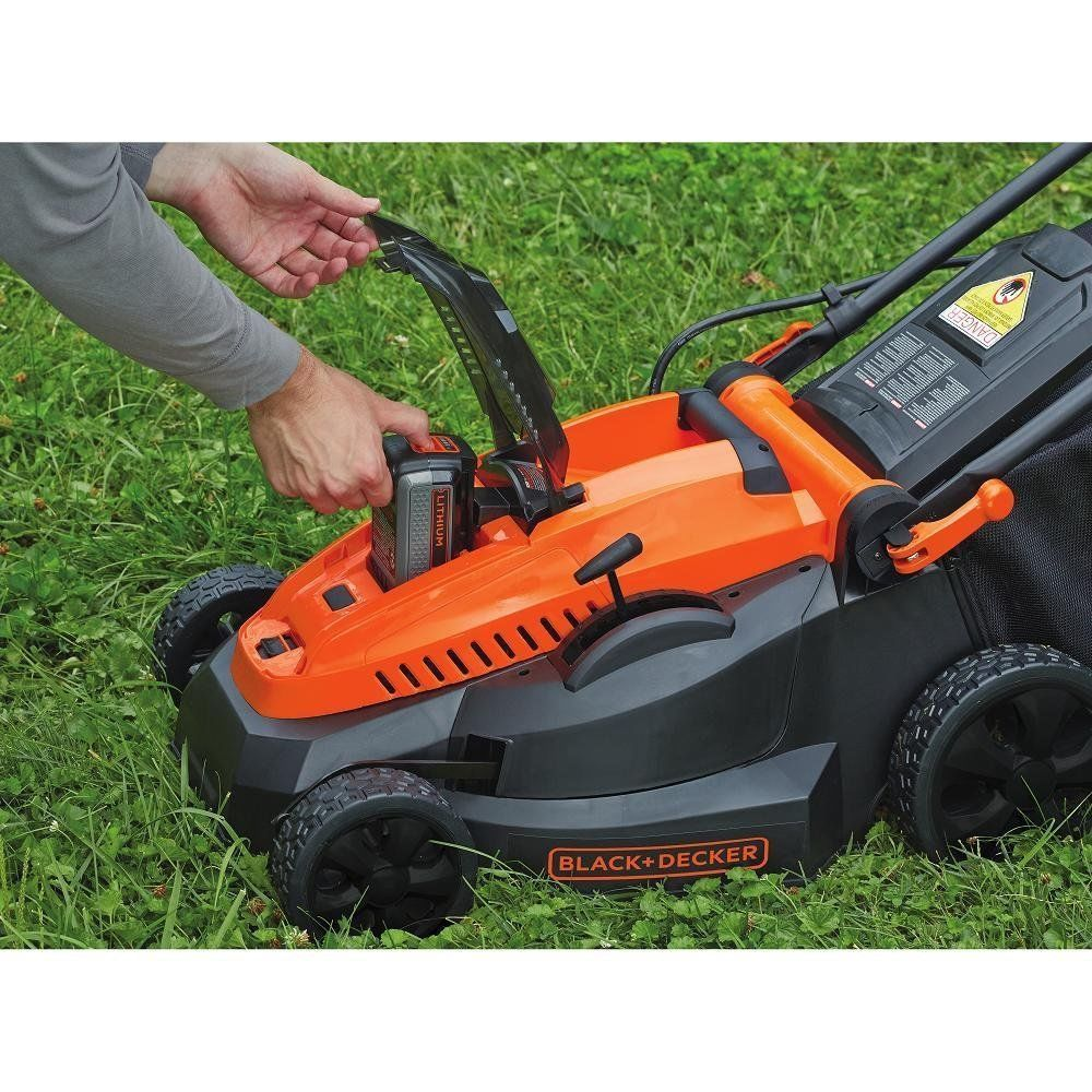 Black and decker electric lawn mower mower cordless