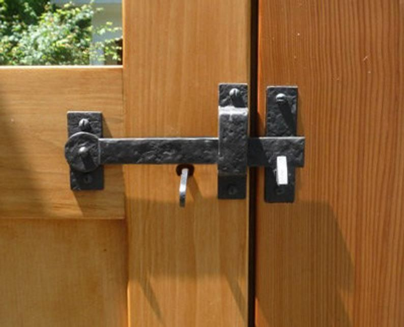 Drop Bar Spear Thumb Latch Kit With Gate Stop Solid Cast Etsy In 2020 Gate Handles Diy Gate Wooden Fence Gate