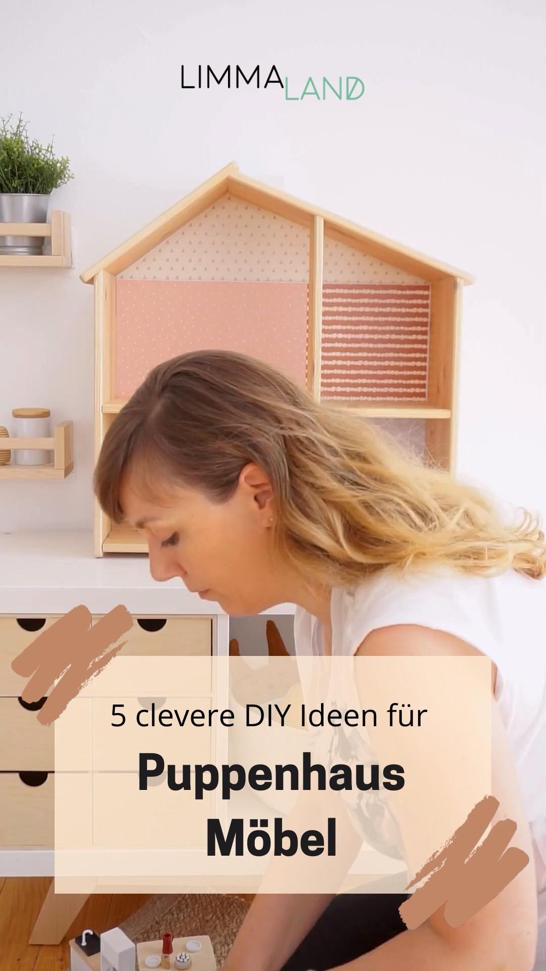Puppenhausmöbel selber machen. 5 DIY Ideen für Puppenhäuser. IKEA FLISAT Puppenhaus.